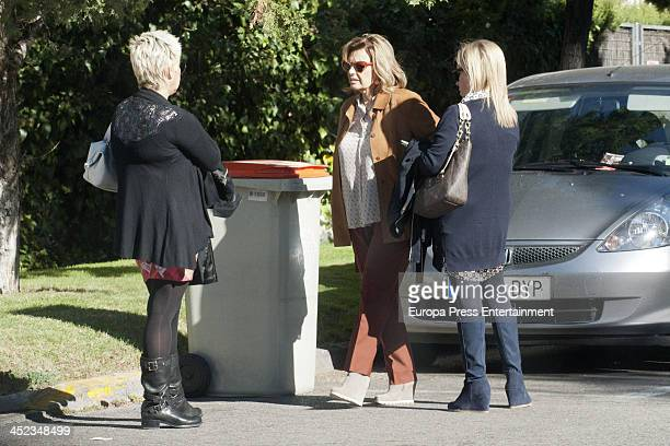 Maria Teresa Campos and her daughters Terelu Campos and Carmen Borrego are seen on November 12 2013 in Madrid Spain