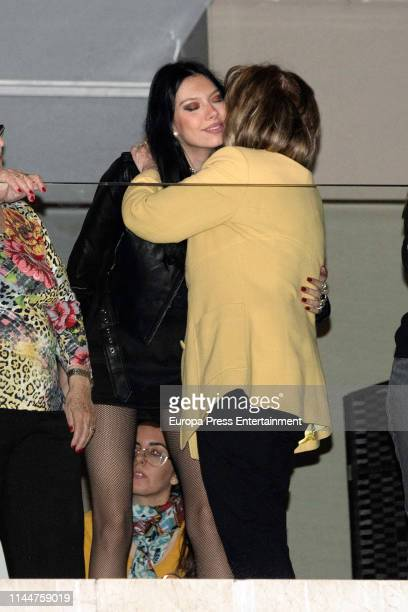 Maria Teresa Campos and Terelu Campos are seen on April 16 2019 in Malaga Spain