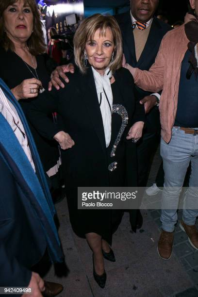 Maria Teresa Campos arrives at the Alejandra Rubio 18th birthday party at Gabana Club on April 5 2018 in Madrid Spain