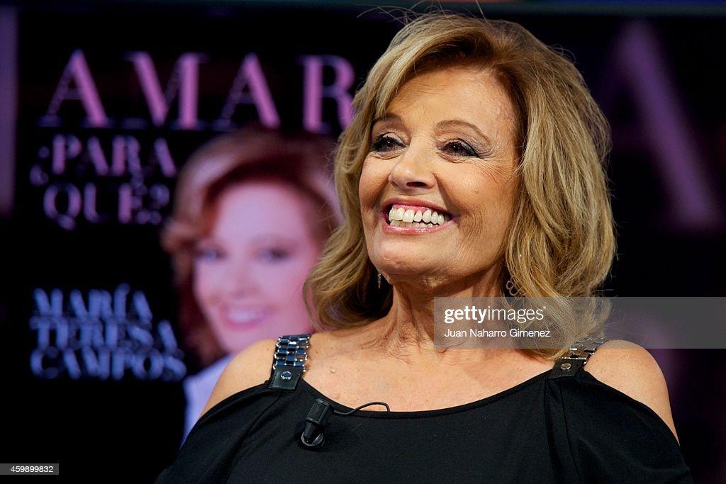 Maria Teresa Campos Attends 'El Hormiguero' Tv Show