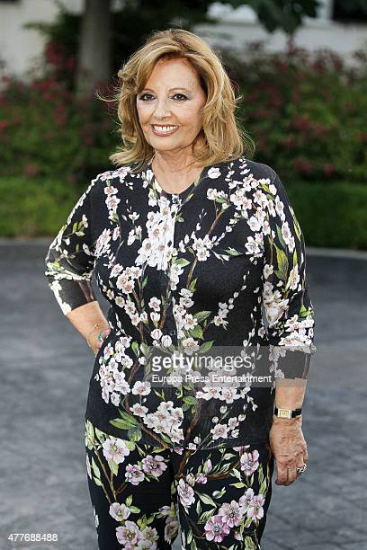 Maria Teresa Campos attends her 74th birthday on June 18 2015 in Madrid Spain