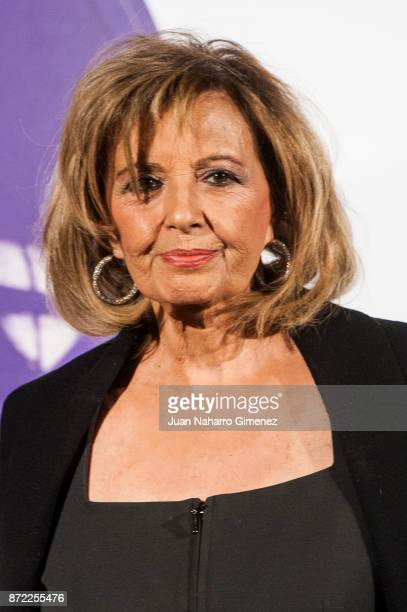 Maria Teresa Campos attends 'Mi Querida Cecilia' photocall at Palacio Municipal de Congresos on November 9 2017 in Madrid Spain