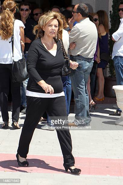 Maria Teresa Campos attends Pedro Rodriguez's funeral the general manager of Quarzo Company at Tanatorio La Paz on July 7 2012 in Madrid Spain