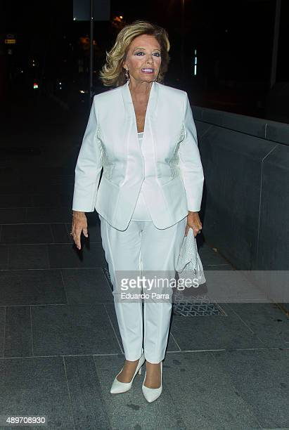 Maria Teresa Campos attends Terelu's birthday party at Le Boutique on September 23 2015 in Madrid Spain