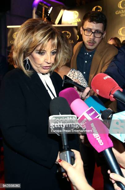 Maria Teresa Campos attends the Alejandra Rubio's attends the 'Alejandra Rubio's birthday photocall' at Gabana disco on April 5 2018 in Madrid Spain