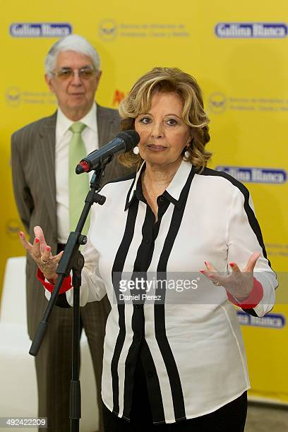 Maria Teresa Campos attends the charity campaign 'Con Avecrem tu ayuda se nota' of the company Gallina Blanca in collaboration with the Food Bank of...