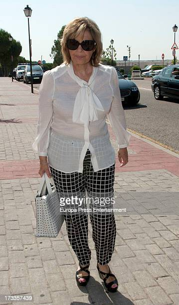 Maria Teresa Campos attends the funeral chapel for the journalist Concha Garcia Campoy at La Paz Morgue on July 12 2013 in Madrid Spain