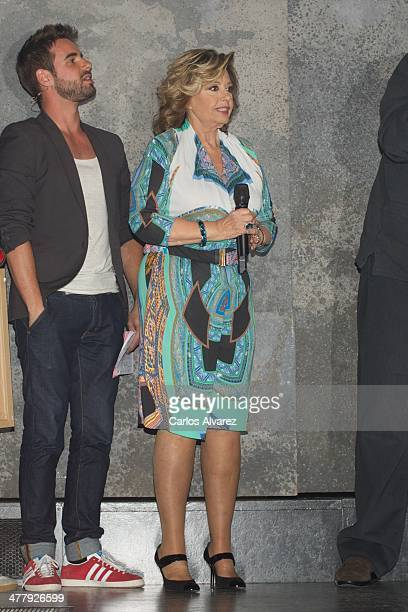 Maria Teresa Campos attends the Hoy No Me Puedo Levantar Triple Platinum Ticket award at the Coliseum theater on March 11 2014 in Madrid Spain