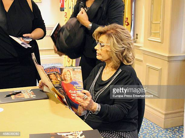 Maria Teresa Campos attends the presentation of her book 'Amar ¿Para que' on October 29 2014 in Madrid Spain