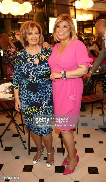 Maria Teresa Campos attends the presentation of the launching of Terelu Campos's first jewellry collection 'TRLU' on May 23 2018 in Madrid Spain