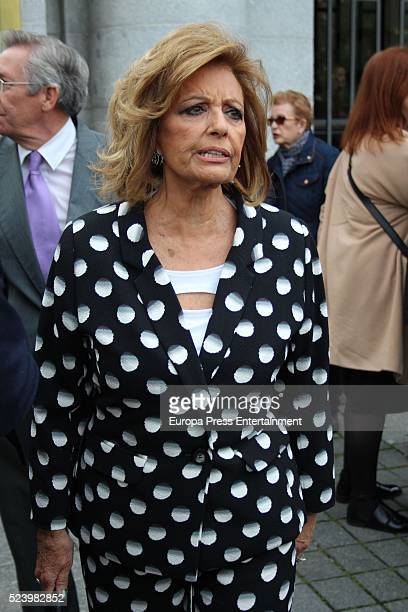 Maria Teresa Campos attends the presentation of the Rocio Jurado stamp in the 10th anniversary of her death at the Royal Theatre on April 22 2016 in...
