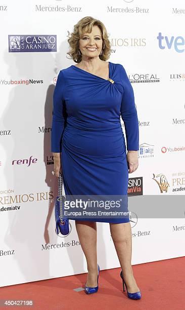 Maria Teresa Campos attends XVI Iris Awards 2014 gala on June 10 2014 in Madrid Spain