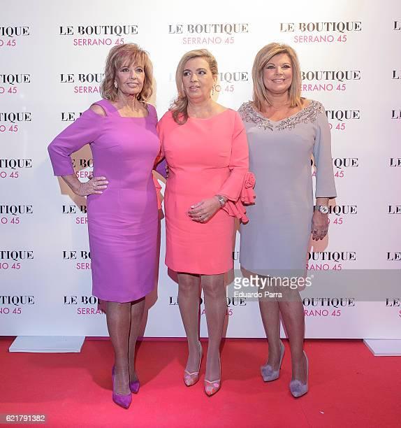 Maria Teresa Campos Carmen Borrego and Terelu Campos attend the Carmen Borrego birthday party on November 8 2016 in Madrid Spain