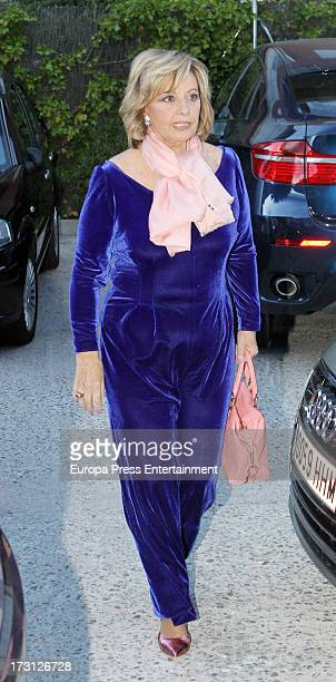 Maria Teresa Campos celebrates her 72th birthday on June 18 2013 in Madrid Spain