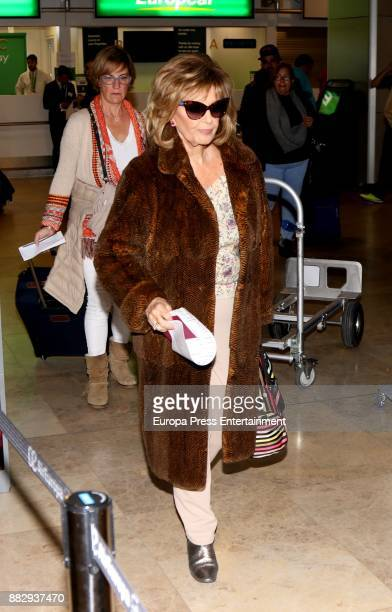 Maria Teresa Campos is seen at the airport to travel to New York where they are going to film a new season of 'Las Campos' tv show on November 29...