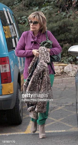 Maria Teresa Campos is seen leaving the hospital after announcing her daughter Terelu Campos had a breast cancer on January 19 2012 in Madrid Spain