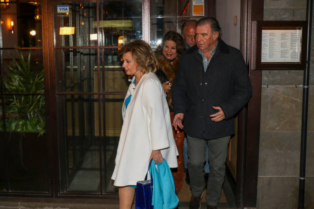 Maria Teresa Campos is seen on March 03 2020 in Madrid Spain