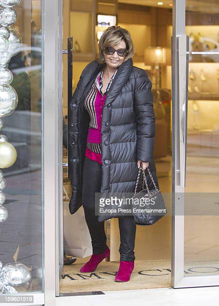 Maria Teresa Campos is seen shopping on January 16 2013 in Madrid Spain
