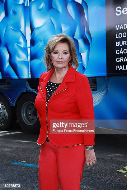 Maria Teresa Campos presents the campaign 'Your brain is your life take care of it' to prevent ictus on September 30 2013 in Madrid Spain