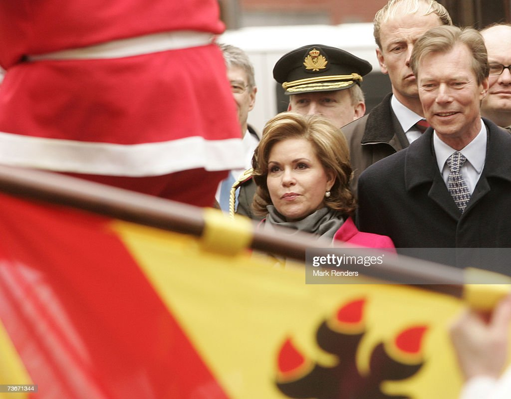 Maria Teresa, Grand Duchess of Luxembourg and Henri, Grand Duke of Luxembourg attend a folklore show at the Provincial House on March 22, 2007 in Namur, Belgium. Henri, Grand Duke of Luxembourg and his wife Maria Teresa, Grand Duchess of Luxembourg are in Belgium for a three day during State Visit.