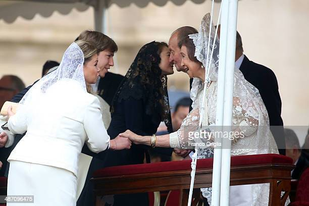 Maria Teresa of Luxembourg Prince Louis of Luxembourg Princess Tessy of Luxembourg King Juan Carlos and Queen Sofia of Spain attend the Canonization...
