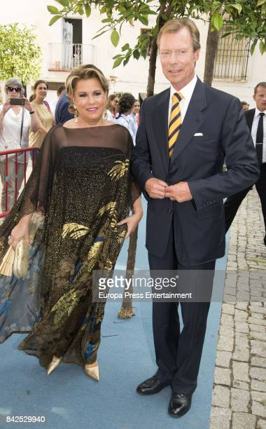 Maria Teresa of Luxemburgo and Enrique of Luxemburgo are seen attending the wedding of MarieGabrielle of Nassau and Antonius Willms on September 2...