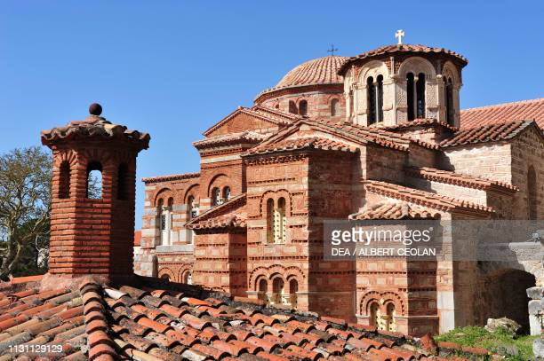 Maria Theotokos church and the Katholikon, Hosios Loukas monastery , Boeotia, Greece, 10th-11th century.