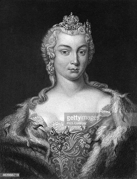 Maria Theresa, Archduchess of Austria and Queen of Hungary and Bohemia. Maria Theresa obtained the crown of the Holy Roman Empire for her husband,...
