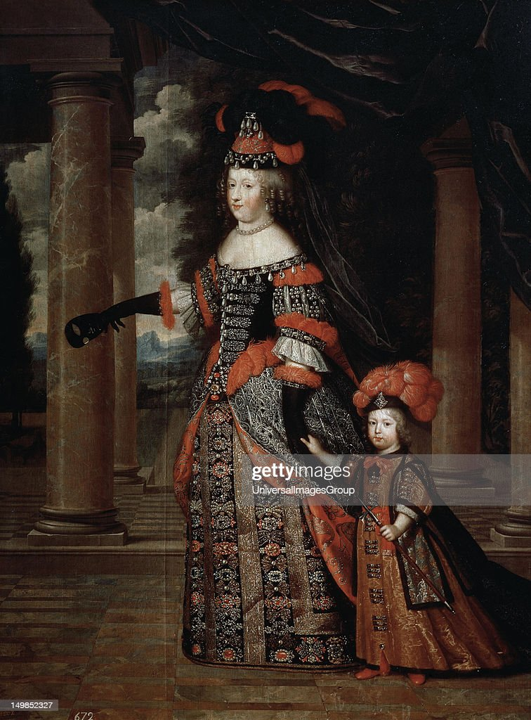 Maria Theresa Of Austria With The Grand Dauphin By Pierre Mignard
