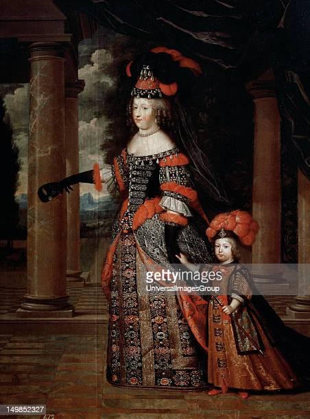 Maria Theresa of Austria with the Grand Dauphin by Pierre Mignard Prado Museum Madrid Spain