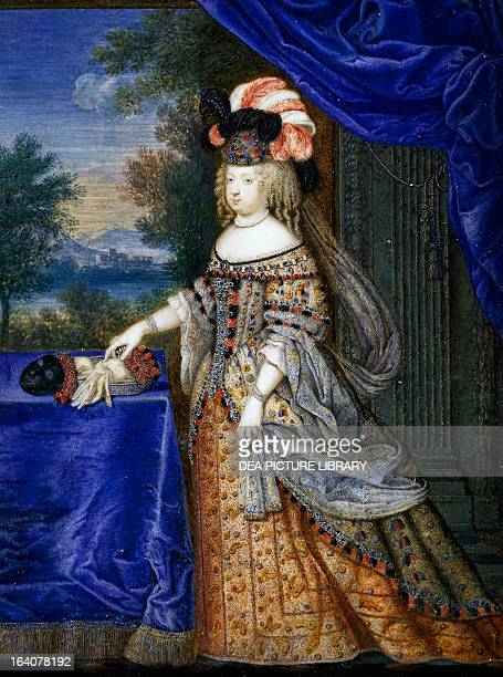 Maria Theresa of Spain wife of Louis XIV and the daughter of Philip IV of Spain Tempera on paper by Joseph Werner France 17th century Versailles...