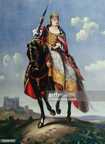 Maria Theresa on the coronation hill at Pressburg the former capital of Hungary She was the eldest daughter of the Emperor Charles VI and was born in...