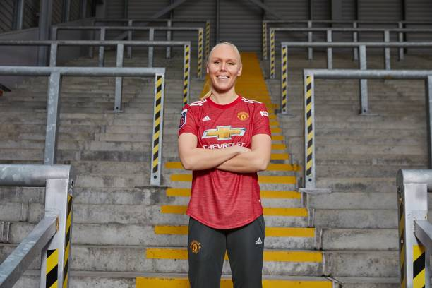 GBR: Manchester United Women Unveil New Signing Maria Thorisdottir