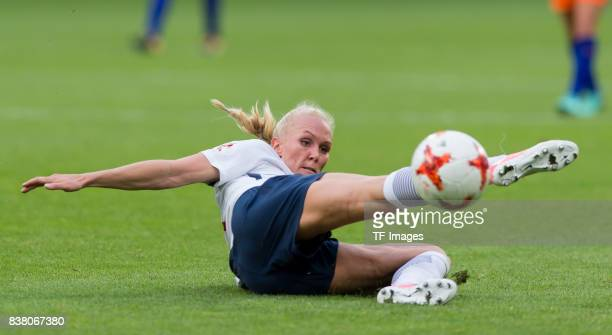 Maria Thorisdottir of Norway controls the ball during their Group A match between Netherlands and Norway during the UEFA Women's Euro 2017 at Stadion...