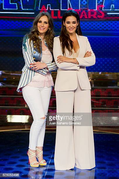 Maria Toledo and Vicky Martin Berrocal attend 'Levantate All Star' photocall at Estudias Picasso on April 27 2016 in Madrid