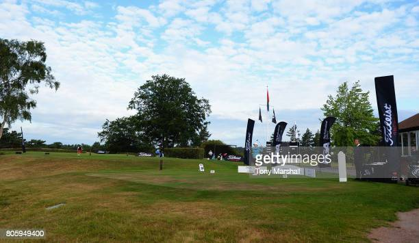 Maria Tulley of Eastbourne Downs Golf Club plays her first shot on the 1st tee during the Titleist and FootJoy Women's PGA Professional Championship...