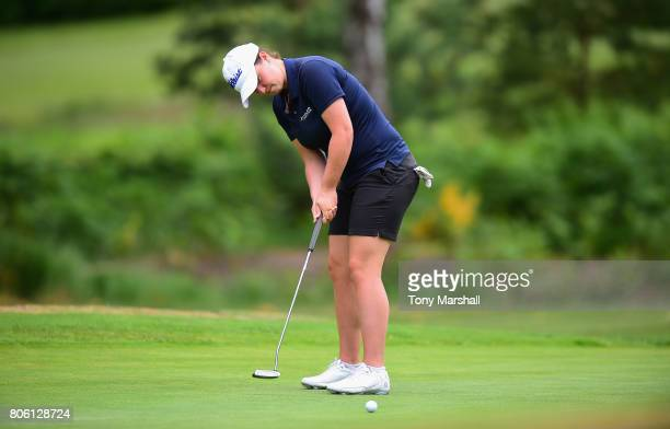 Maria Tulley of Eastbourne Downs Golf Club putts on the 2nd green during the Titleist and FootJoy Women's PGA Professional Championship at The...