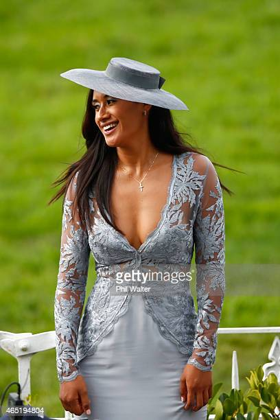 Maria Tutaia during Auckland Cup Day at Ellerslie Racecourse on March 4 2015 in Auckland New Zealand