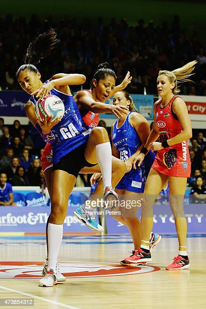 Maria Tutaia of the Mystics secures posession during the round 12 ANZ Championships match between the Northern Mystics and the Waikato Bay of Plenty...