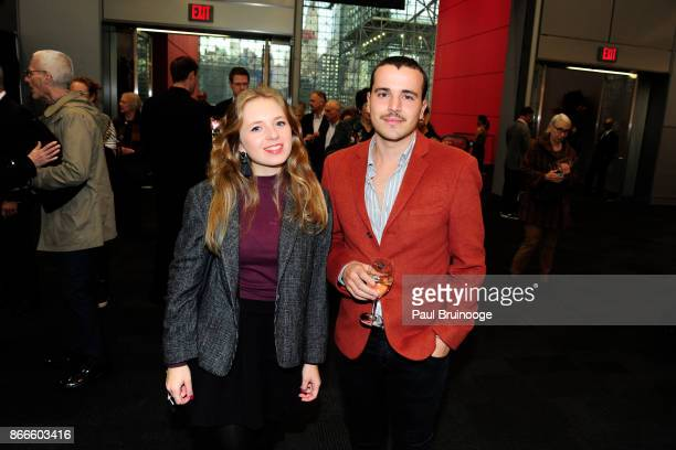Maria Ubeda and Jose Jimenez attend the IFPDA Fine Art Print Fair Opening Preview at The Jacob K Javits Convention Center on October 25 2017 in New...