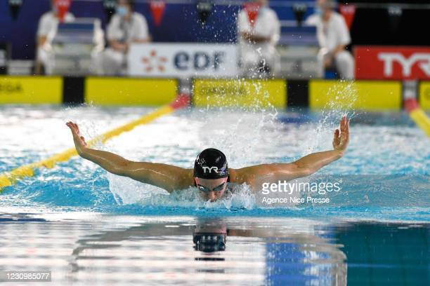 Maria UGOLKOVA of Switzerland 200m medley during the Golden Tour at Jean Bouin swinning pool on February 5, 2021 in Nice, France.
