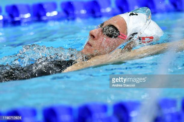 Maria Ugolkova of Switzerland competes in her women's 400m Individual Medley heat. Maria Ugolkova qualified for the final.