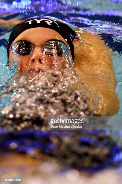 Maria Ugolkova of Switzerland competes in the Women 400m Medley Final A at the Swim Cup Amsterdam at Optisport Sloterparkbad on December 14, 2019 in...