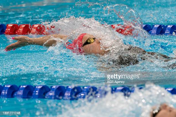 Maria Ugolkova of Switzerland competing in the women 200m Individual Medley during the Tokyo 2020 Olympic Games at the Tokyo Aquatics Centre on July...