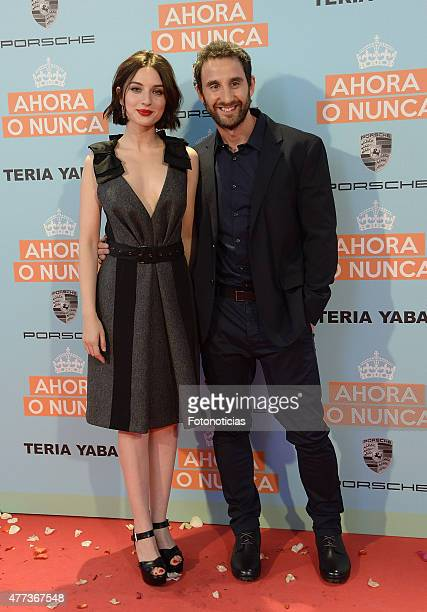 Maria Valverde and Dani Rovira attend the 'Ahora o Nunca' premiere at Capitol Cinema on June 16 2015 in Madrid Spain