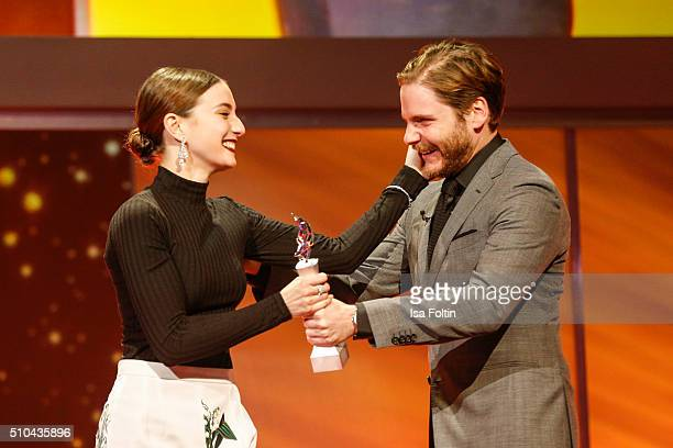 Maria Valverde and Daniel Bruehl during the presentation of the European Shooting Stars 2016 as part of the 66th Berlinale International Film...