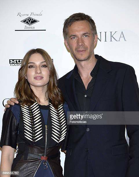Maria Valverde and James D'Arcy attend the 'Gernika' premiere at Palafox cinema on September 5 2016 in Madrid Spain