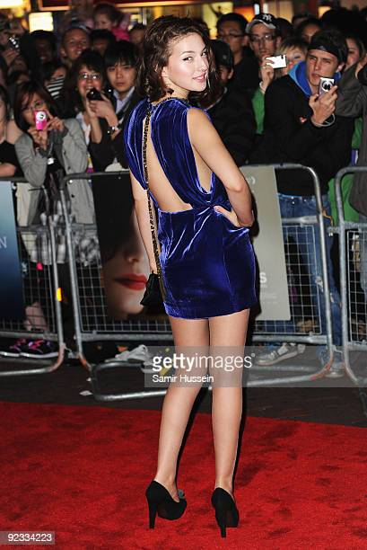 Maria Valverde arrives for the premiere of 'Cracks' during the Times BFI 53rd London Film Festival at the Vue West End on October 25 2009 in London...