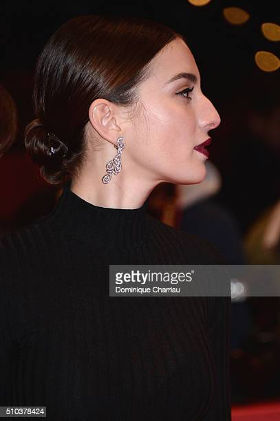 Maria Valverde attends the 'Alone in Berlin' premiere during the 66th Berlinale International Film Festival Berlin at Berlinale Palace on February 15...