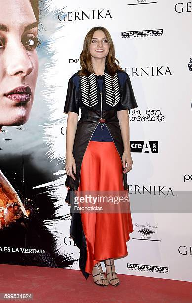 Maria Valverde attends the 'Gernika' premiere at Palafox cinema on September 5, 2016 in Madrid, Spain.